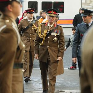 Chief of the Defence Staff Sir David Richards arrives at Westminster Abbey
