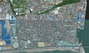 This Arpil 4, 2010 image released by GeoEye shows an area of Ishinomaki, Japan. An 8.9-magnitude earthquake struck Japan on March 11, 2011, causing a tsunami that devastated the region. (AP Photo/GeoEye) SEE NY231 FOR SIMILAR IMAGE AFTER EARTHQUAKE. MANDATORY CREDIT, NO SALES.