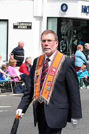 Nelson McCausland at a Twelfth parade in Belfast <br/><sup>Photo submitted by James Patterson</sup>