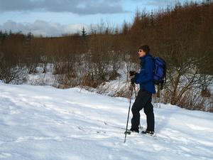 Frances Wilson on skis in Springwell Forest near Coleraine. By Peter Wilson, Portstewart