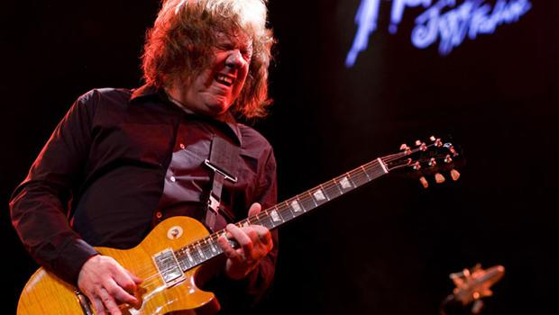 Gary Moore performs at the 42nd Montreux Jazz Festival