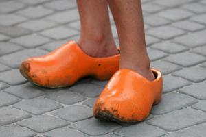KHARKOV, UKRAINE - JUNE 13:  A Netherlands fan wears clogs during the UEFA EURO 2012 group B match between Netherlands and Germany at Metalist Stadium on June 13, 2012 in Kharkov, Ukraine.  (Photo by Julian Finney/Getty Images)