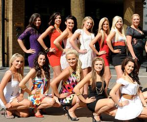 Miss Belfast City finalists soaking up the sun in Belfast city centre. May 2010