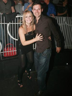 Tracey Hall dancing with a male friend at Style Academy's 18th Birthday bash in the Rain Night Club.