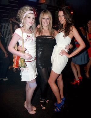 Megan McConnell, Tracey Hall and Melanie Boerham at Style Academy's 18th Birthday bash in the Rain Night Club.