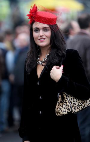 Grainne McGarvey pictured at the Down Royal Races