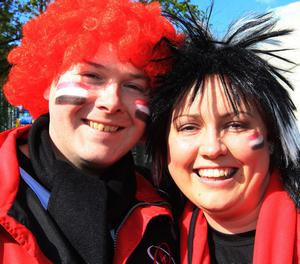 Ulster fans Johnny and Michelle Dodds from Armagh  during Saturday's Heineken Cup Semi Final at the Aviva Stadium