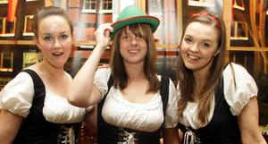 Rachel McCarey, Kelly Masson and Maria McBride at Oktoberfest in Custom House Square, Belfast