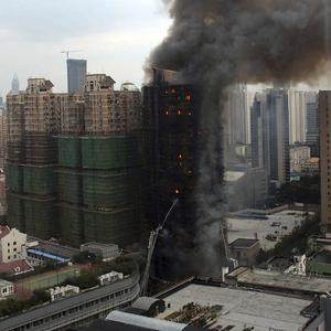 A fire at an apartment building in Shanghai, China, has killed 53 people (AP)