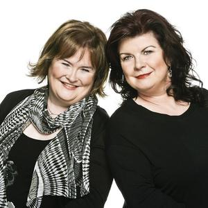 Susan Boyle (left) is delighted about Elaine C Smith's musical