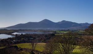 Mourne Mountains from Dundrum Castle. Submitted by Barry McQueen