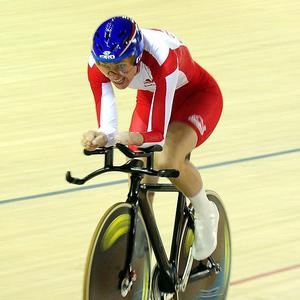 Sarah Storey won Britain's first gold medal in the women's individual pursuit