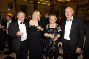 Sean Loughran, Harriot Scott, Yvonne Scott and Desmond Scott from McAleer's in Omagh at the Pub of the Year Awards 201