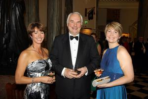 Pubs of Ulster's Pub of the Year Awards 2011 at Belfast City Hall. Penny Thornberry, Nick Price (Nicks Warehhouse) and Catherine Scott.