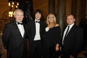 Mickey McBride, John McGirr, Oonagh McGirr and Michael Sharkey from Sally's of Omagh at the Pub of the Year Awards 2011
