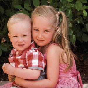 Kinga Rzeszowski, five, and her brother Kacper, two, died in St Helier (States of Jersey Police/PA)