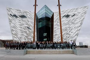 The Titanic Ship 401 left Belfast on the 2nd April 100 years ago and to mark this centenary The Titanic Foundation with Titanic Belfast launched 401 balloons into the air with the help of pupils from Victoria College, RBAI and Methody.