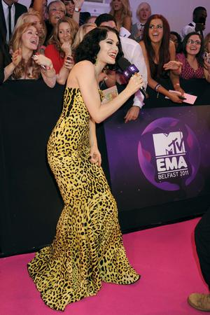 BELFAST, NORTHERN IRELAND - NOVEMBER 06:  Singer Jessie J attends the MTV Europe Music Awards 2011 at the Odyssey Arena on November 6, 2011 in Belfast, Northern Ireland.  (Photo by Dave Benett/Getty Images)