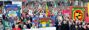 Thousands attend peace rally at Belfast City Hall
