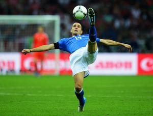 WARSAW, POLAND - JUNE 28:  Leonardo Bonucci of Italy in action during the UEFA EURO 2012 semi final match between Germany and Italy at the National Stadium on June 28, 2012 in Warsaw, Poland.  (Photo by Shaun Botterill/Getty Images)