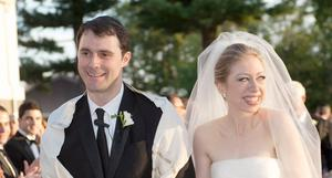 Chelsea Clinton and Marc Mezvinsky are seen during their wedding, Saturday, July 31, 2010 in Rhinebeck, N.Y.