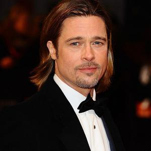 Brad Pitt was one of the Hollywood stars arriving for the Baftas