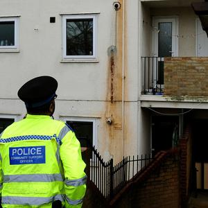 The flat in Jersey Road, Leicester, where three members of the same family were found dead