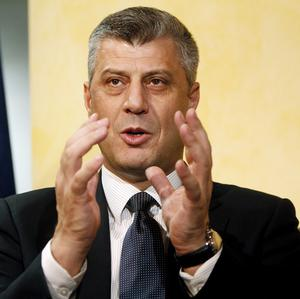 Kosovo prime minister Hashim Thaci denied claims he once led a ring trafficking in human organs