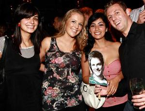 Dani Hibbert, Colleen Magee, and Brooke and Mark Houston from Belfast are pictured supporting finalist Rob Rea at the final of Pepsi Sexiest Man 2009 in association with Northern Woman. Rob ended up winning the Mr Congeniality award