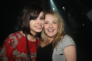 Kerry Campion and Courtney Craig from Belfast at the Harp Ice Cold Big Gig in the Spring and Airbrake on 26th February