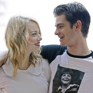 Andrew Garfield and Emma Stone posed for photos in Cancun