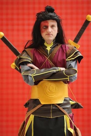 LONDON, ENGLAND - OCTOBER 26: Andrew Kay 27, from Glasgow poses as Avatar Zuko ahead of the MCM London Comic Con Expo at ExCel on October 26, 2012 in London, England. Visitors to the Comic Convention are encouraged to wear a costume of their favourite comic character and flock to the Expo to gather all the latest news in the world of comics, manga, anime, film, cosplay, games and cult fiction.  (Photo by Dan Kitwood/Getty Images)