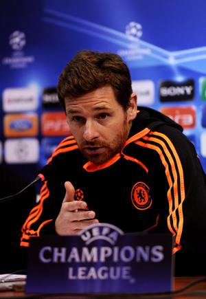 NAPLES, ITALY - FEBRUARY 20:  Andre Villas-Boas the Chelsea manager speaks to the media during the Chelsea press conference ahead of the UEFA Champions League round of sixteen, first leg match between Napoli and Chelsea FC at Stadio San Paolo on February 20, 2012 in Naples, Italy.  (Photo by Mike Hewitt/Getty Images)