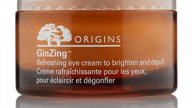GinZing eye cream £21, origins, boots.com This uses ginseng and magnolia extracts to tackle the tell-tale signs of fatigue such as dark circles and under-eye bags. A delicate iridescence reflects light off dulled skin.