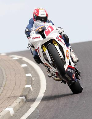 Michael Rutter races at the North West 200
