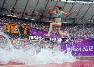 LONDON, ENGLAND - AUGUST 04:  Clarisse Cruz of Portugal competes in the Women's 3000m Steeplechase Round 1 Heats on Day 8 of the London 2012 Olympic Games at Olympic Stadium on August 4, 2012 in London, England.  (Photo by Stu Forster/Getty Images)