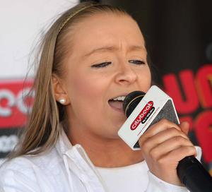 15 year old Nicole Mulvenna  on stage performing at the City Beat Young Star search heat  held in the Wallace Park Lisburn