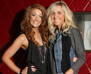 Melissa Magee and Ashley Moore - at the Terry Bradley bag launch in Ollies Belfast
