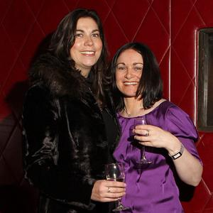 Christine Carroll and Gemma Marlow - at the Terry Bradley bag launch in Ollies Belfast
