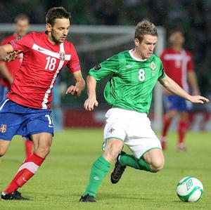Steven Davis, right, has revealed his Northern Ireland teammates are looking forward to Wednesday's game