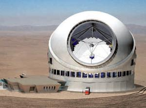 An artist's impression of the telescope being built in Hawaii