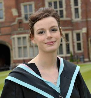 Stephanie Bird from Carnlough graduated today from Queen's University, Belfast. At the age of 5 Stephanie contracted Meningitis and lost her leg as a result. Stephanie, who has led an active life at Queen's, hopes she can act as an inspiration to others.
