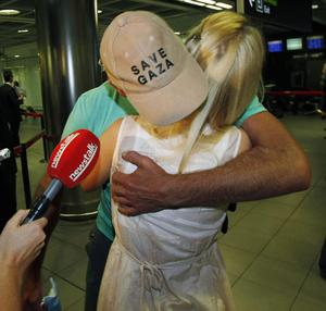 Irish activist Shane Dillon arrives back at Dublin Airport after he was deported from Israel following a commando raid on the Gaza aid flotilla