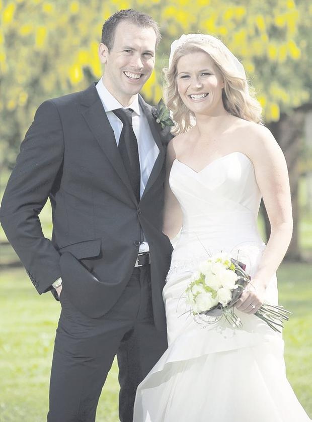 """Lisa Watters and Simon Smyth who were married at Tullylagan Country House Hotel  <p><b>To send us your Wedding Pics <a  href=""""http://www.belfasttelegraph.co.uk/usersubmission/the-belfast-telegraph-wants-to-hear-from-you-13927437.html"""" title=""""Click here to send your pics to Belfast Telegraph"""">Click here</a> </a></p></b>"""