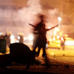 Anti-government protesters clash with riot police in Daih, Bahrain, on the outskirts of the capital of Manama (AP Photo/Hasan Jamali)