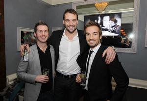 Michael Good, Andrew Bree and Kyle Anderson at the Alison Campbell Modelling Agency Christmas Party at Cafe Vaudeville. Picture by Kelvin Boyes / PressEye.com