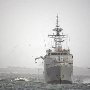 A member of the Irish Navy has died following an accident while on shore leave