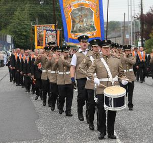 South Down Defenders, Newry City parade. 12th July 2011
