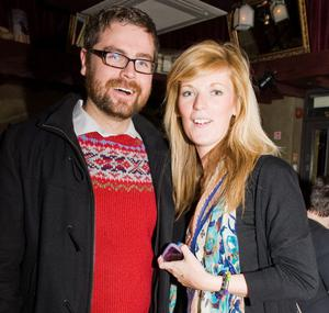 Gavin Grogan and Grace Smyth at the Audiopicnic Comedy Night in The Roost