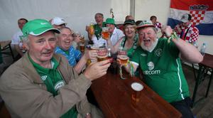 Republic of Ireland fans before the UEFA Euro 2012, Group C match at the Municipal Stadium, Gdynia, Poland